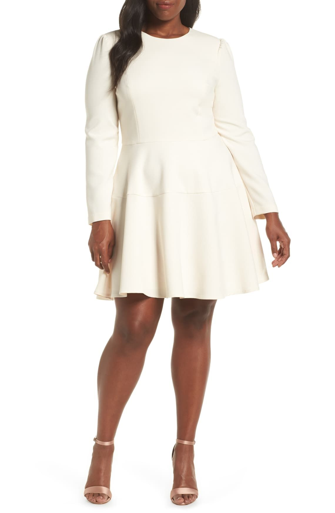 Gal Meets Glam Collection Celeste Long Sleeve Fit Flare Dress Nordstrom Fit And Flare Cocktail Dress Fit Flare Dress Flare Dress [ 1746 x 1140 Pixel ]