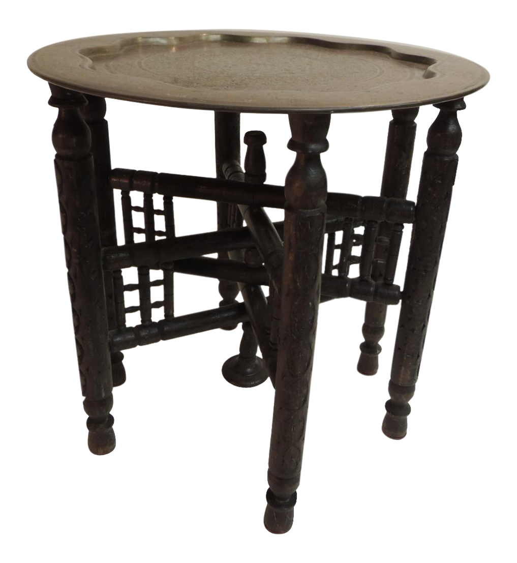 See Details Under Image At Left Antique Moroccan Wood Carved Base Small Side Table With Cloisonne Round Tray The Unique Tab Table Round Side Table Side Table [ 1107 x 1017 Pixel ]
