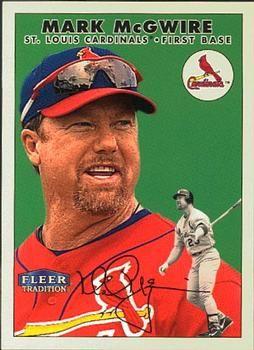 Mark Mcgwire Cardinals Baseball Card 2000 Fleer Twizzlers 1 Mark