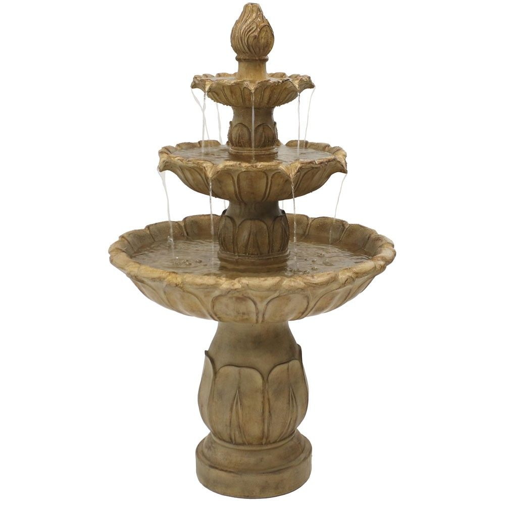 46 H Polystone Classic Tulip Three Tiered Outdoor Water 400 x 300