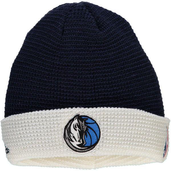 663076803 Men s Dallas Mavericks adidas Navy Authentic Team Cuffed Knit Hat ...