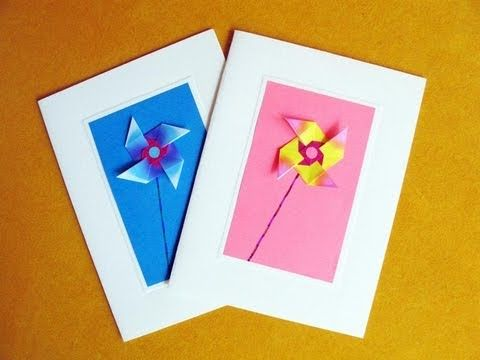 Greeting Cards Using An Easy Origami Windmill Mit Bildern