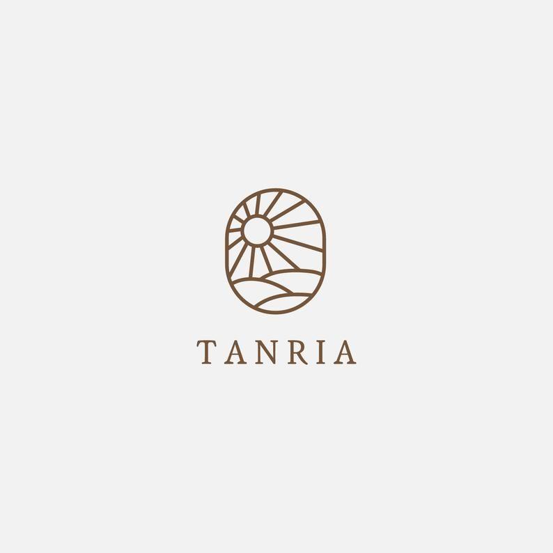 Disegno di marchio minimalista. Premade logo femminile. Premade elegante logo design. Branding. Stile di marchio di tipografia. Modello di disegno.