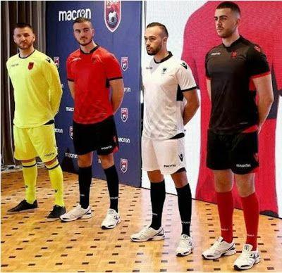 Los nueva Primera Equipacion Camiseta Albania baratas 2017 2018 presenta un patrón a cuadros tonal en su parte delantera.