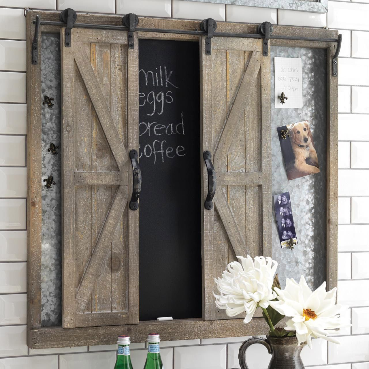 Sliding door wall piece from country village shoppe