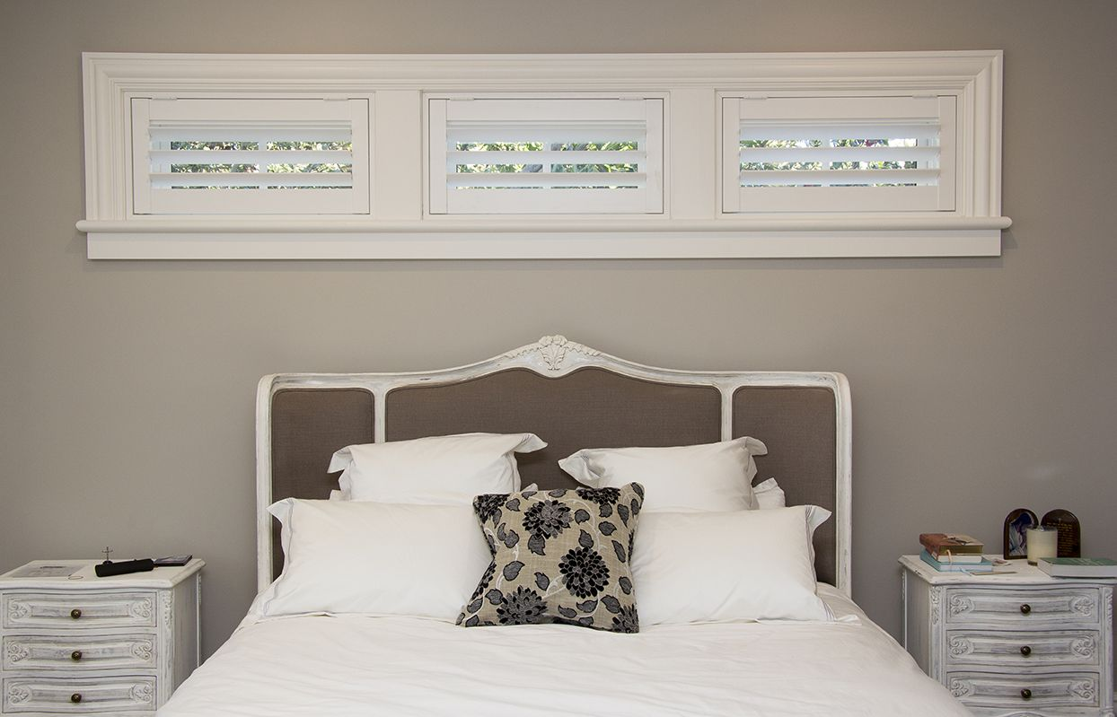Plantation shutters for a long narrow window for Blinds for long windows