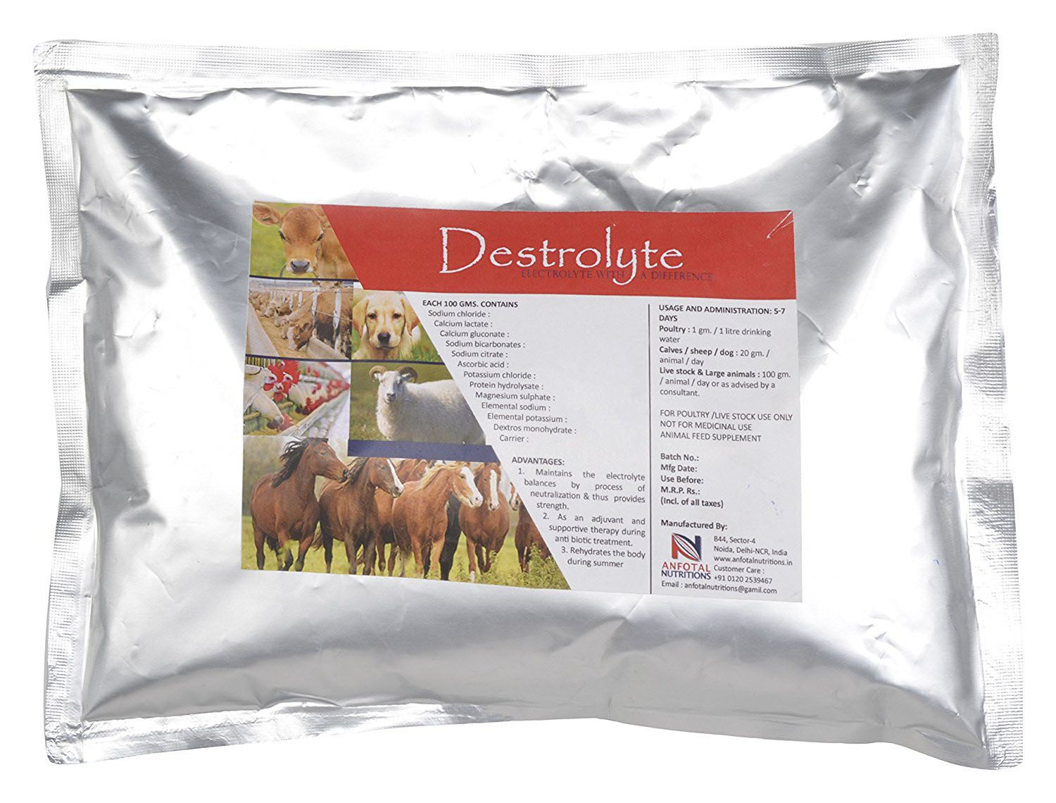 Animal Health and Nutritions Destrolyte Maintains the