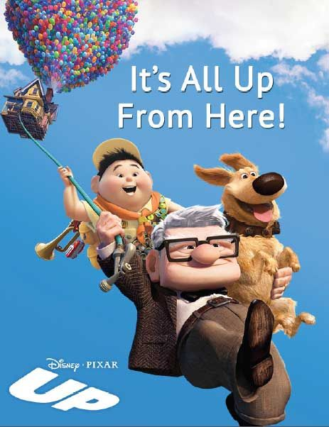 """Tell the graduate in your life that they are headed up in the world with this wonderfully """"UP""""-lifting card and frame set. Details: http://www.disneymovierewards.go.com/rewards/browse/search/all?q=gradcards&sort=pl&page=1&cmp=DMR