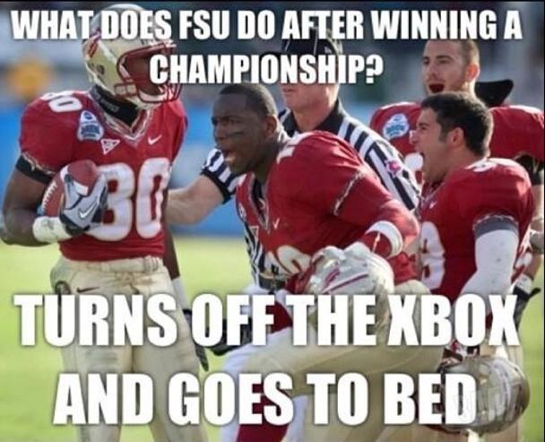 Fsu Football Funny Ecard Funny Football Memes Florida Gators Football Funny Football Jokes