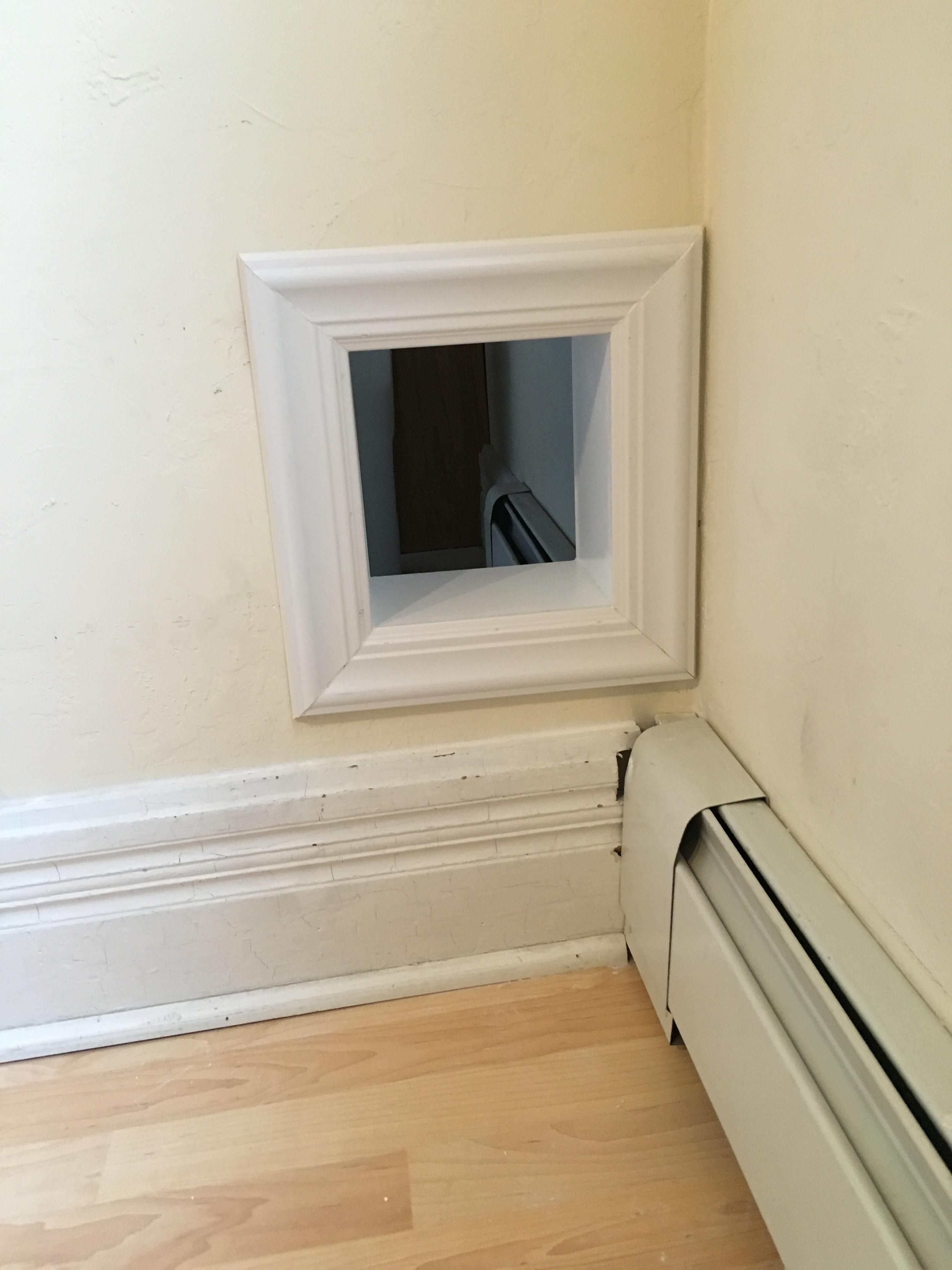 Made A Cat Door Tunnel Thing In My Wall Because Doors Are Ugly More