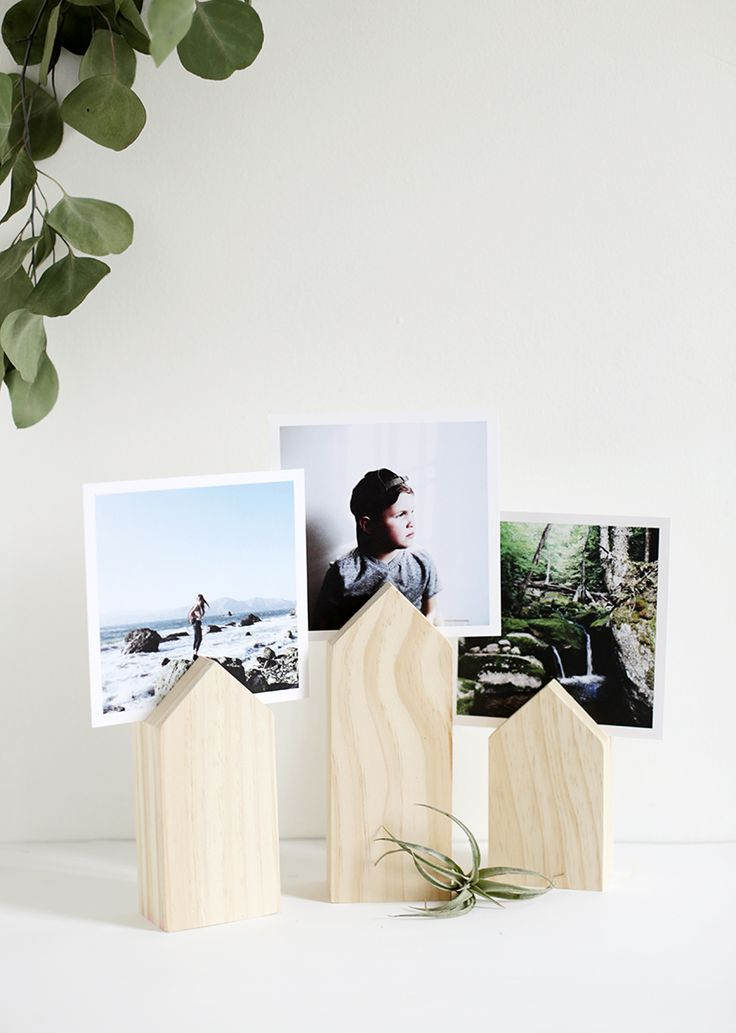 DIY-Haus-Foto-Display The Merrythought #michaelsmakers – DIY und Selber Machen Holz