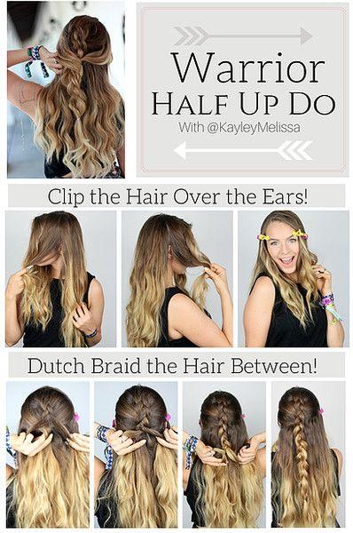 101 Pinterest Braids That Will Save Your Bad Hair Day Braided Half Updo Warrior Braid Hair Styles