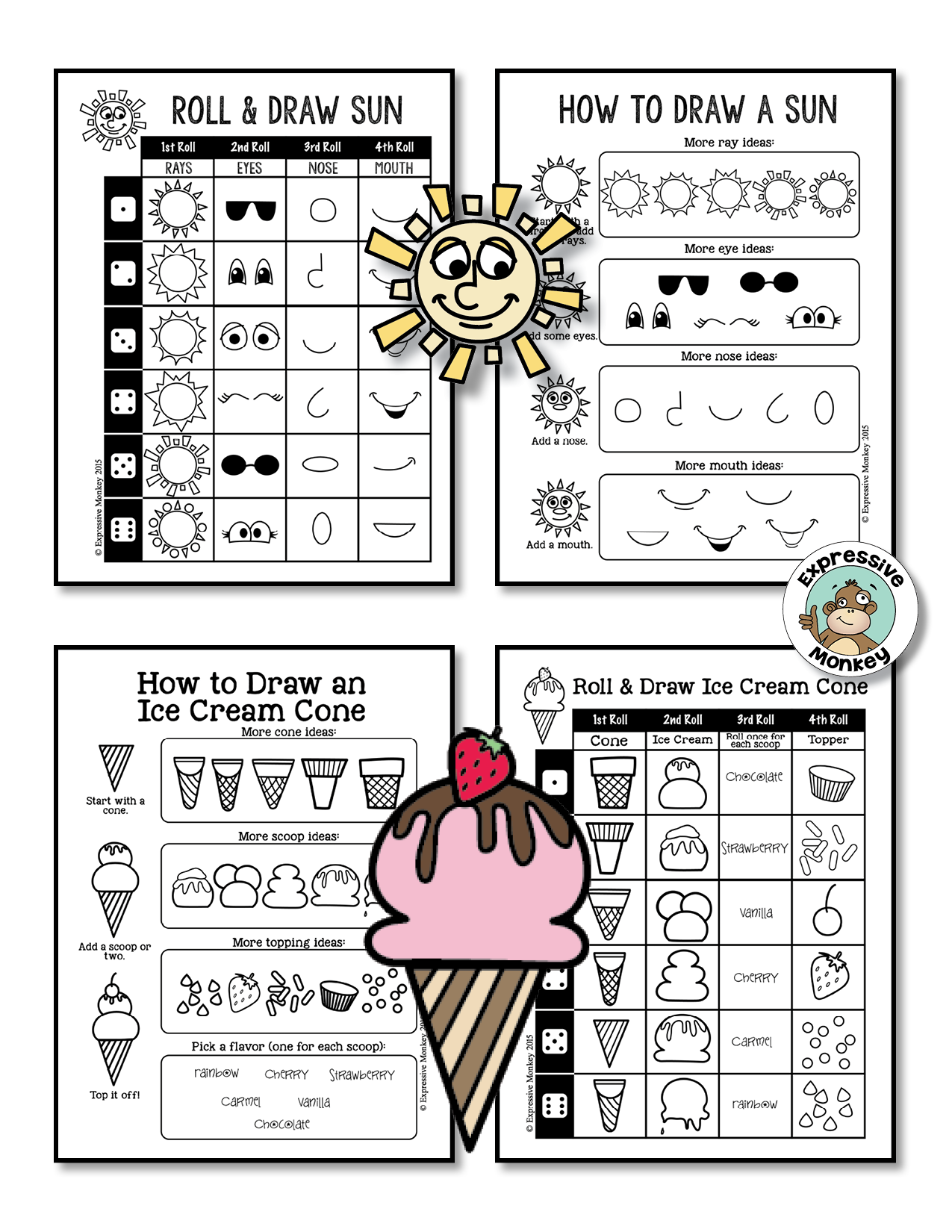 Summer Drawing Fun From Expressive Monkey Beat The Heat With These