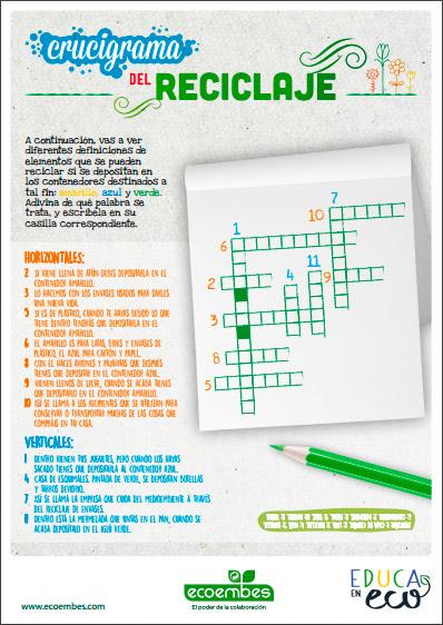 Recursos Educativos De Reciclaje Ecoembes Tecnologia Y Medio Ambiente Medio Ambiente Actividades Conservacion Del Ambiente