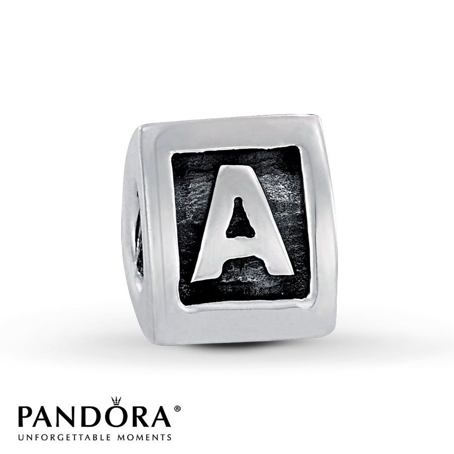 aa15640e7 ... reduced pandora sterling block letter charm a 93fb2 27a52
