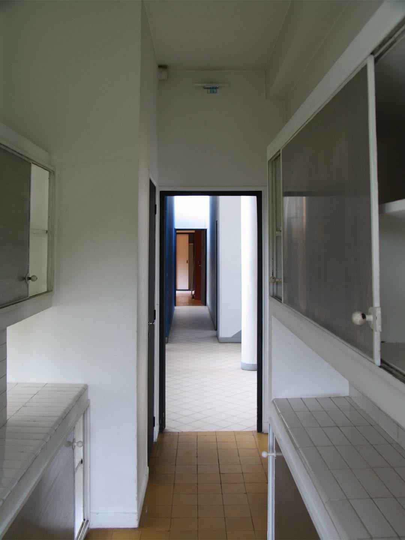 Le corbusier villa savoye interior - Vista Interior Villa Savoye Maquina De Habitar De Le Corbusier Fotograf A Jos