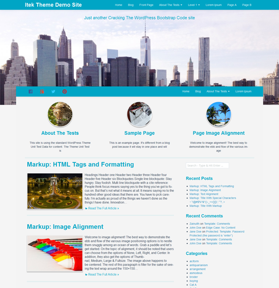 This free parallax WordPress theme includes a clean design, a ...