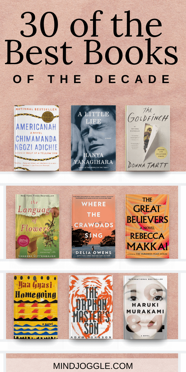 30 of the best fiction books of the last decade. You don't want to miss these books; find three of the top novels from each year of the 2010s. #books #bestbooks #bestbooksofthedecade #booklist #readinglist