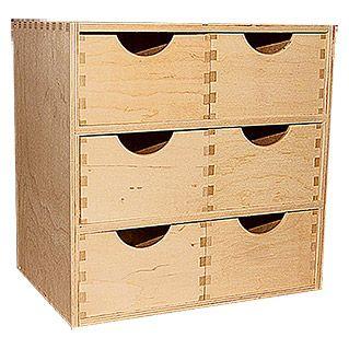 Schubladenelement (20 x 28 x 28 cm, 6 Schubladen)