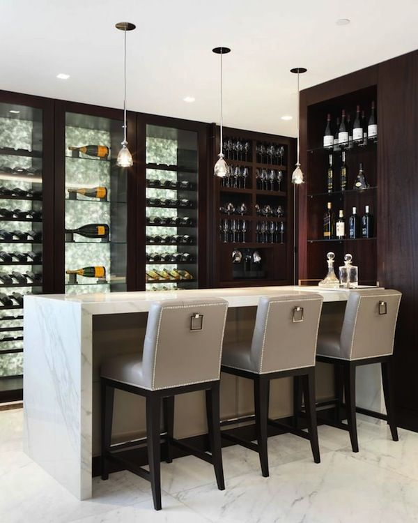12 Cool Home Bar Designs | Home bar decor, Modern home bar ...