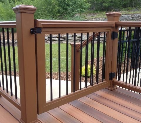 Safety gates for your deck rail come in all different for Types of balcony