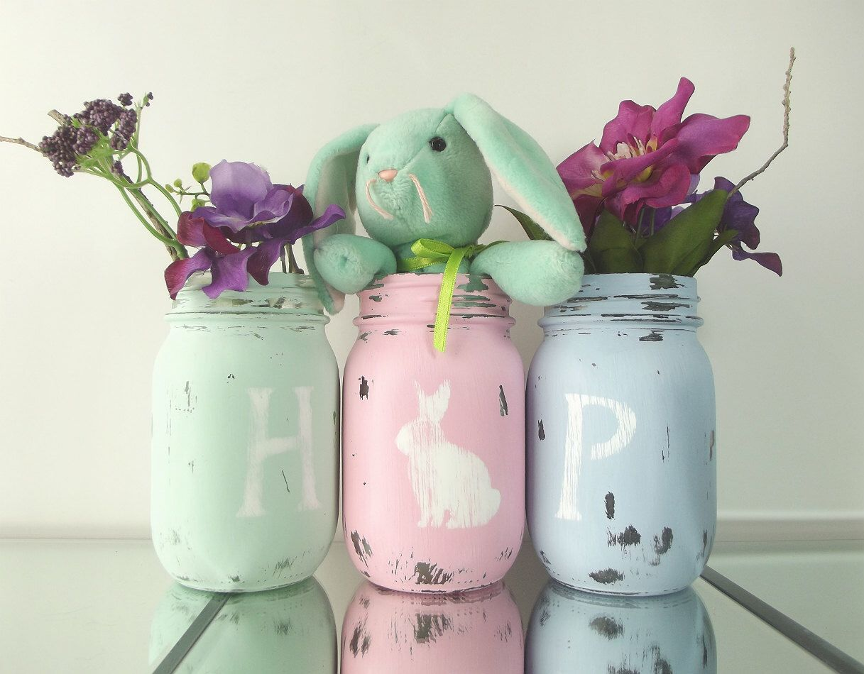 Hop Easter Decor Spring Cottage Chic Cute Home Rustic Decorations Festive By Curiouscarrie On