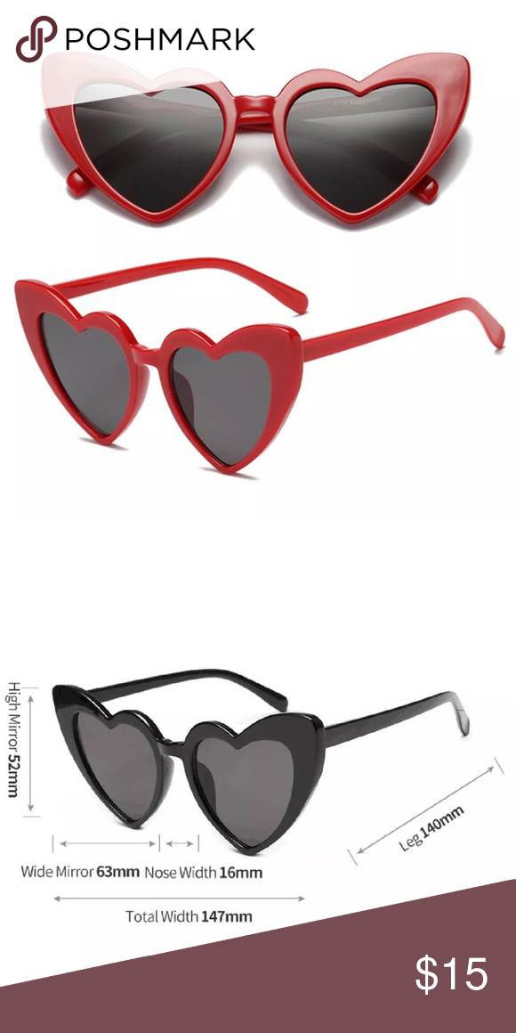 d627603e2144 Spotted while shopping on Poshmark  Red pinup cat eye heart sunglasses!   poshmark  fashion  shopping  style  Accessories