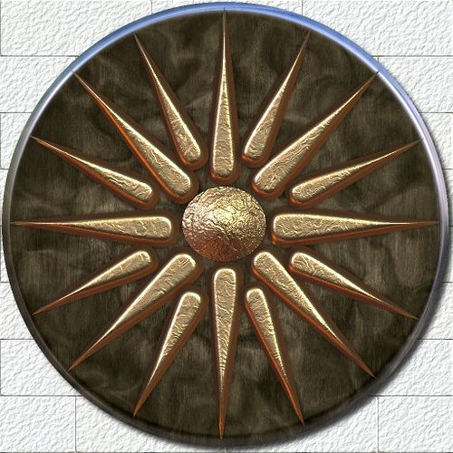 Vergia Sun Shield | Ancient greek art, Ancient symbols, Greek culture