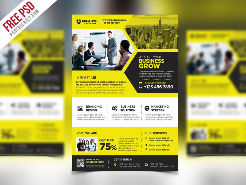 Marvelous Cool Corporate Business Promotional Flyer PSD Template. Download Free  Corporate Business Promotional Flyer PSD Template
