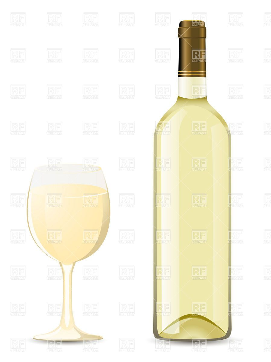 bottle-and-glass-of-white-wine-Download-Royalty-free ...