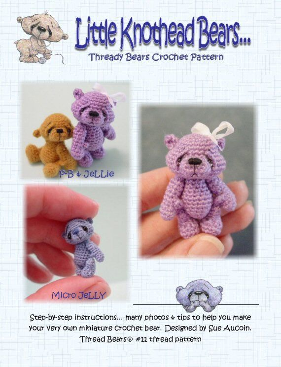 Thread Bears PDF crochet pattern AMiGuRuMi BeaR 11 by PRiMiTeDS, $12.00