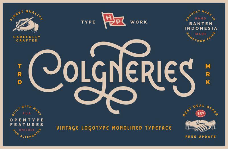 Colgneries Vintage Font Free Download In 2020 Vintage Fonts Free Vintage Fonts Text Logo