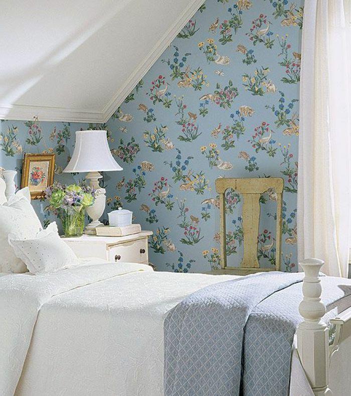 le papier peint en 52 photos pleines d 39 id es style anglais papier peint et anglais. Black Bedroom Furniture Sets. Home Design Ideas