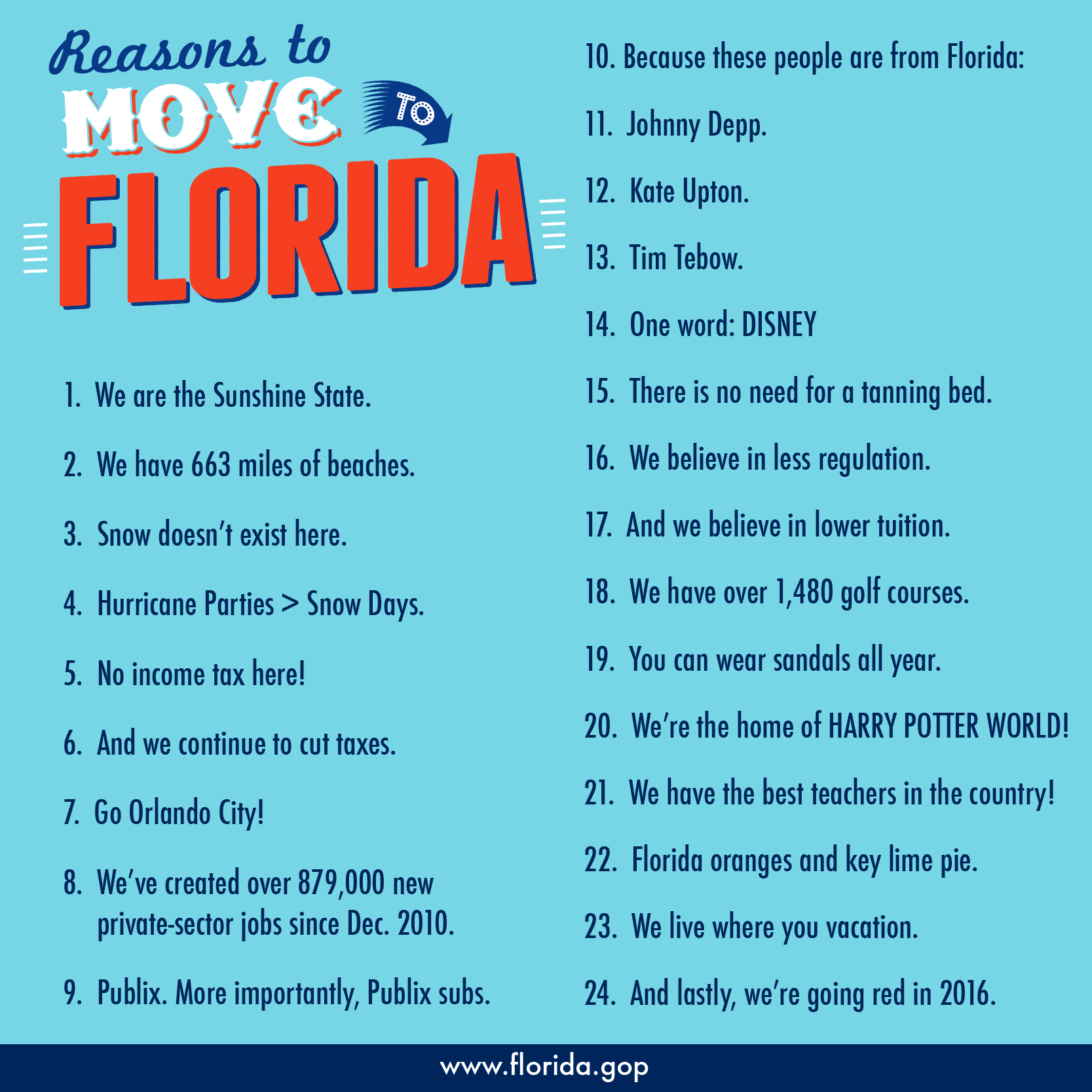 The Sunshine State Is The Best Place To Live Under Strong Conservative Leadership Florida Has Created 865 600 Private Moving To Florida Florida Florida Travel