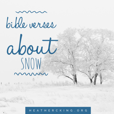 Bible verses about snow