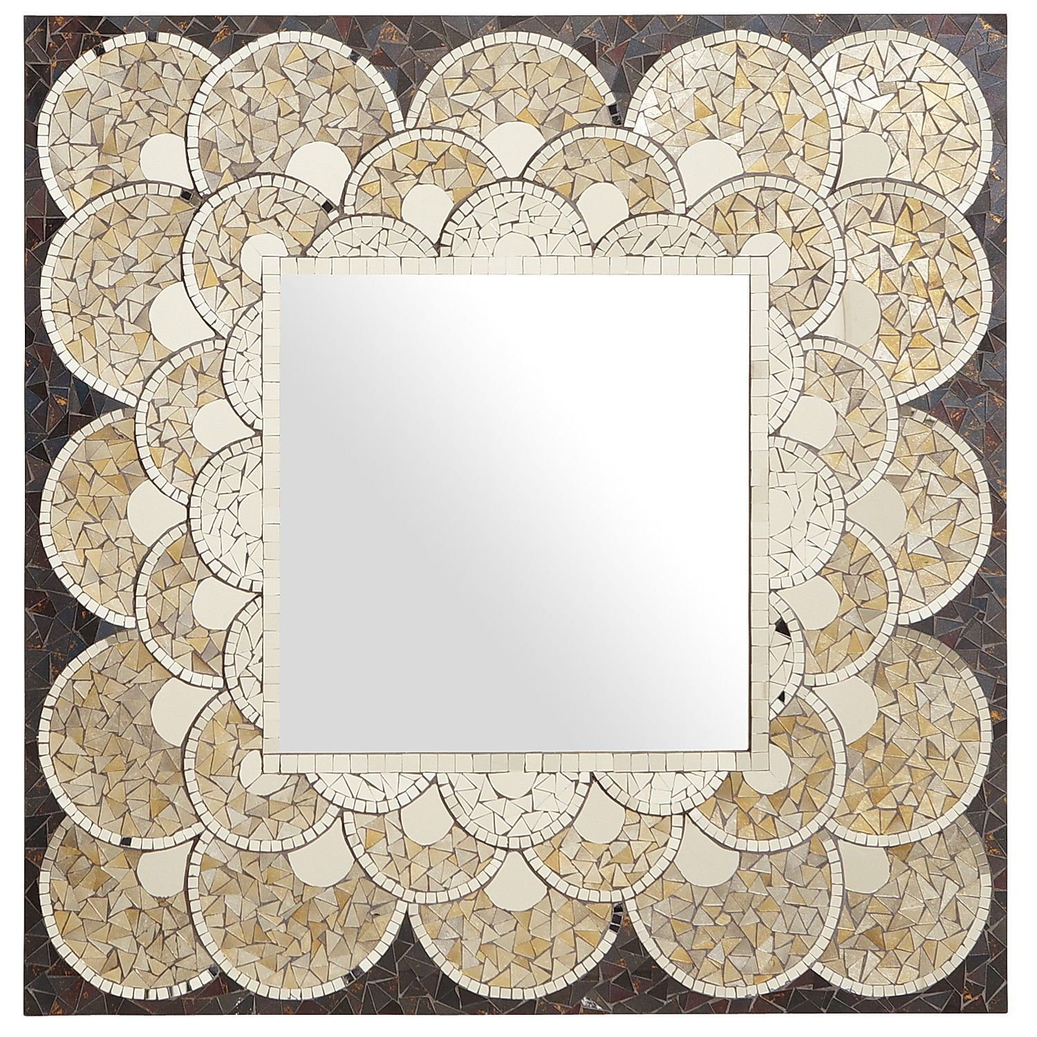 Gold Scallop Mosaic Mirror ($229.00)