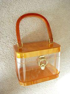5ff2ad7b5243d Vintage LUCITE PURSE
