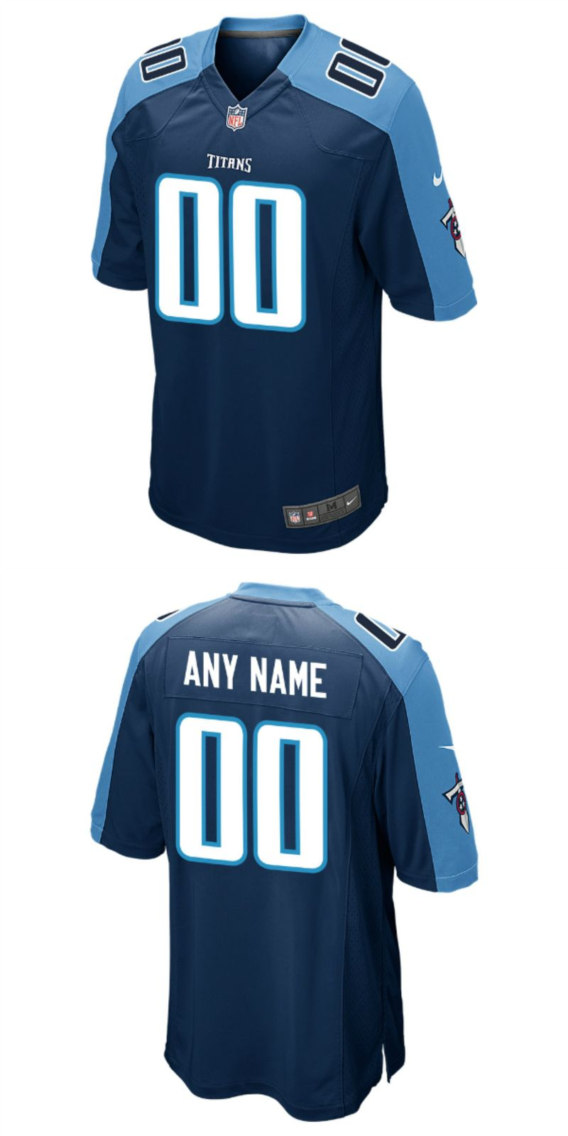 buy popular 250f4 f77dd UP TO 70% OFF. Men's Tennessee Titans Nike Navy Custom Game ...