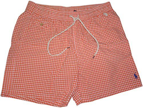 Polo By Ralph Lauren Mens Swim Trunks Orange Checkered Small Click The Visit Button To View The Swimwear Detai Mens Swim Trunks Swim Trunks Ralph Lauren Men