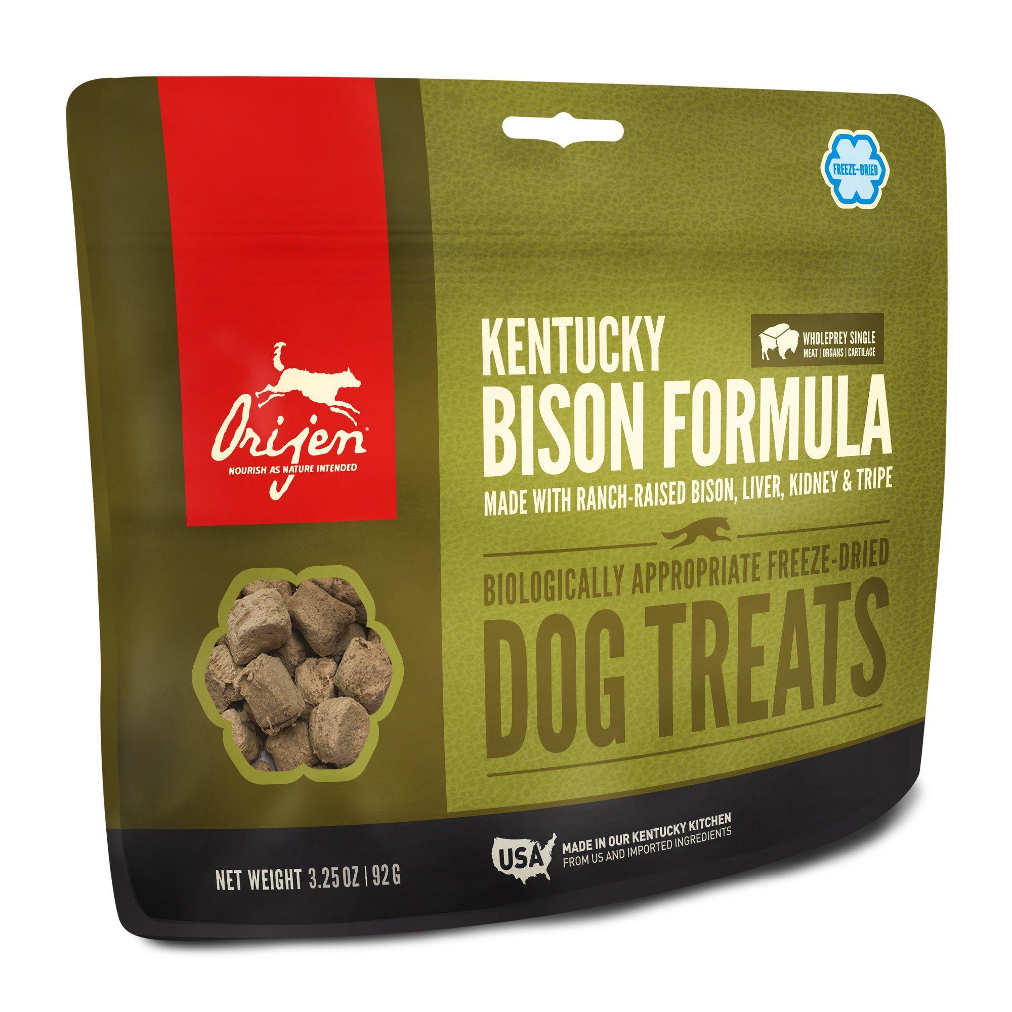 Orijen freezedried kentucky bison dog treats 325 oz