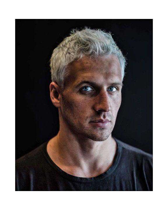 Ryan Lochte Debuts Light Blue Hair For The Olympics Ryan Lochte Grey Hair Grey Hair Men