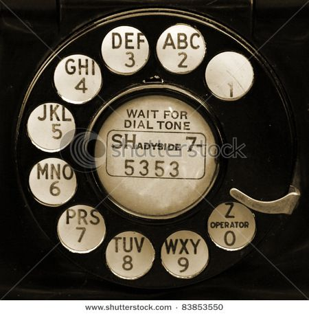 Closeup Of Vintage Telephone Dial Remember When Phone Numbers Began