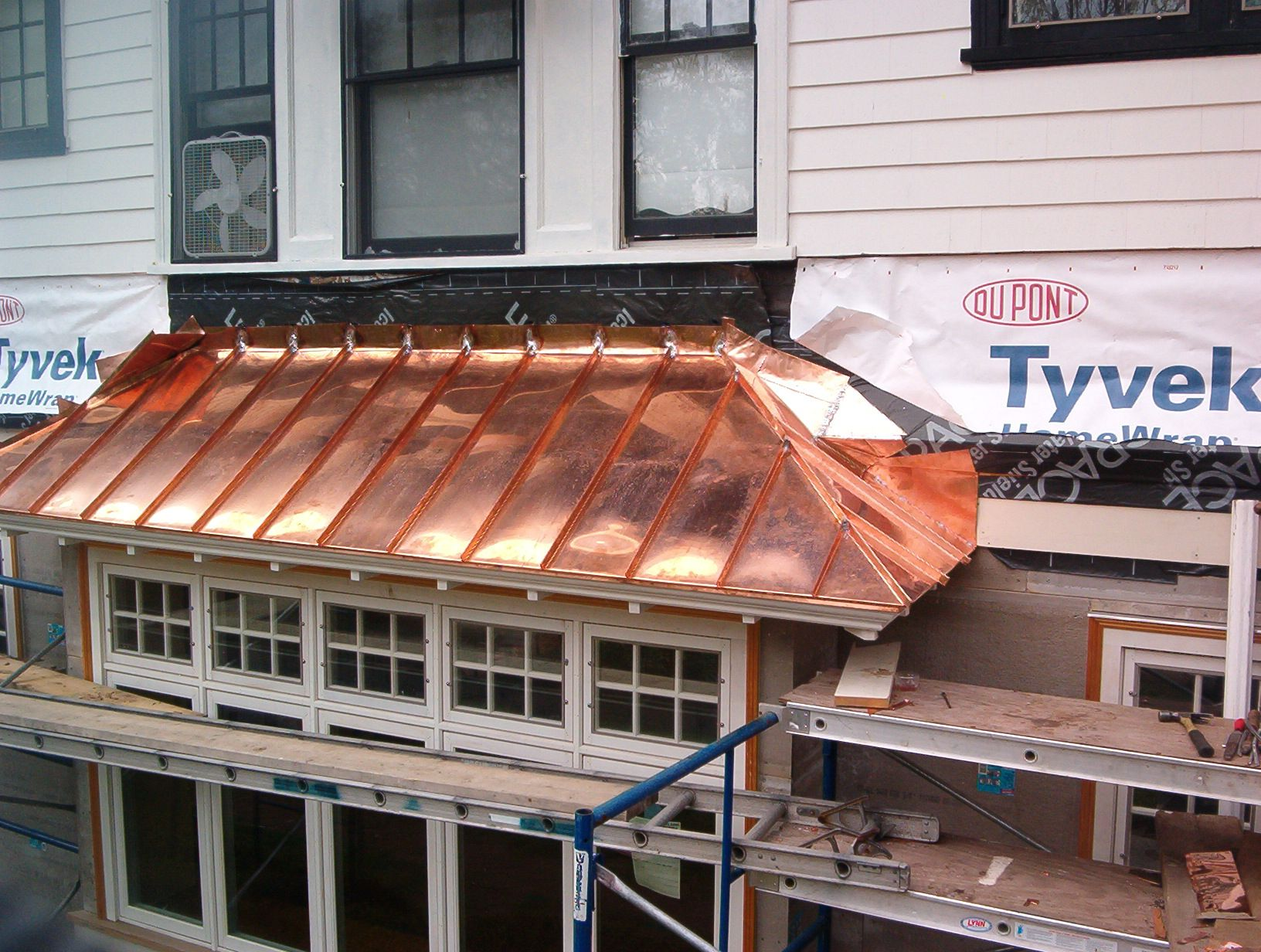 bow-window-copper-roof-by-castle-slate | copper roofing