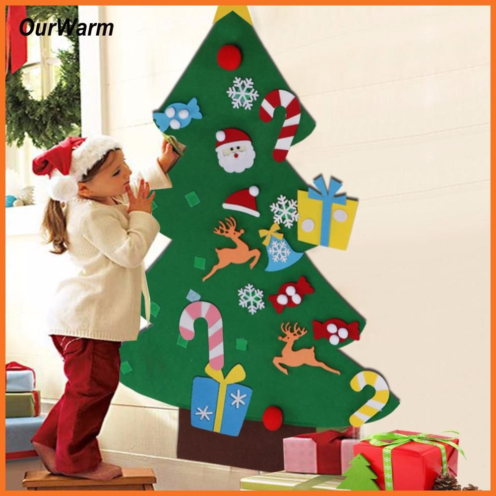 Ourwarm New Year Gifts Kids DIY Felt Christmas Tree Decorations ...