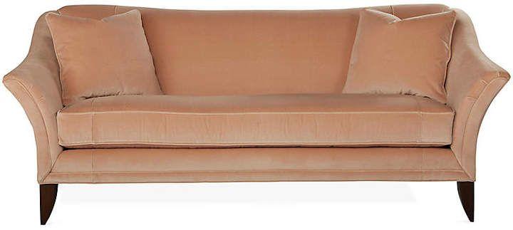 Tremendous Michael Thomas Collection Charlotte Sofa Blush Velvet Evergreenethics Interior Chair Design Evergreenethicsorg