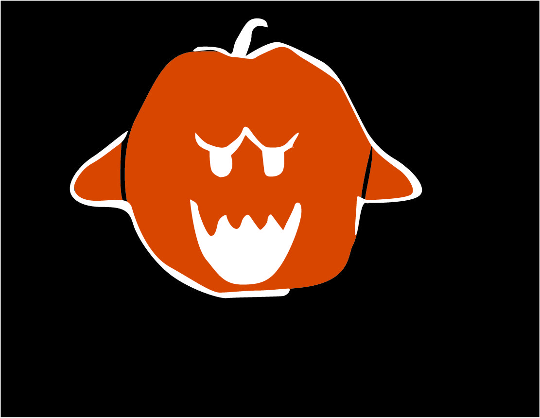 King Boo pumpkin template