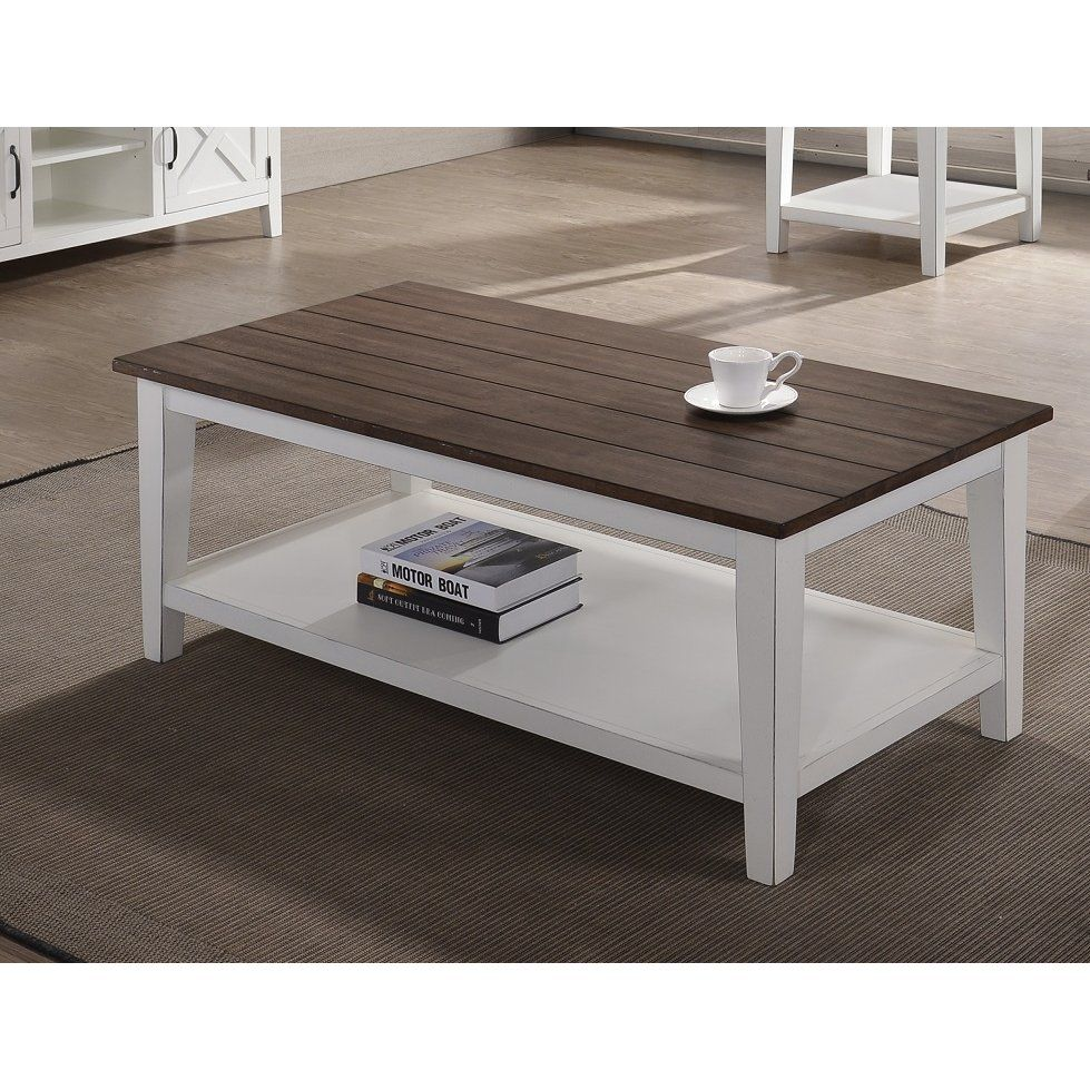 Farmhouse White And Brown Coffee Table Rc Willey Furniture Store Coffee Table Farmhouse Farmhouse Style Coffee Table Coffee Table [ 979 x 979 Pixel ]