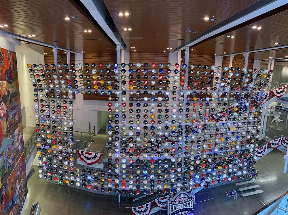 Cfb Hof Helmet Wall College Football Hall Of Fame Wikipedia