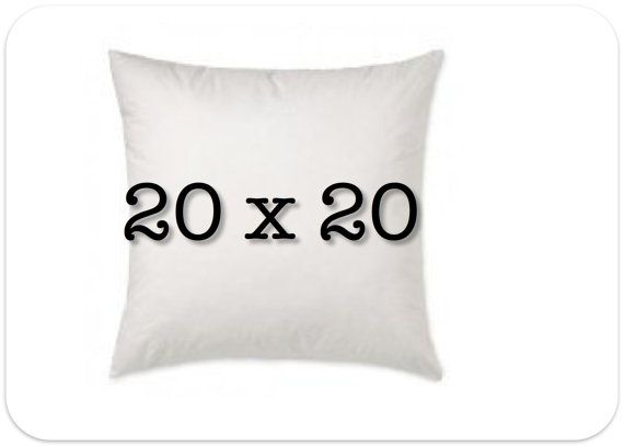 Pillow Insert 20 X 20 Decorative Pillow Form 100 Polyfill Pillow Forms Decorative Pillows Pillow Inserts