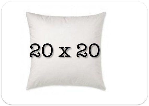 Pillow Insert 20 X 20 Decorative Pillow Form 100 Polyfill Pillow Forms Decorative Pillows Pillow Inserts